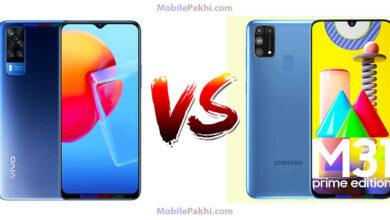 Vivo Y51A vs Samsung Galaxy M31 Prime Comparison